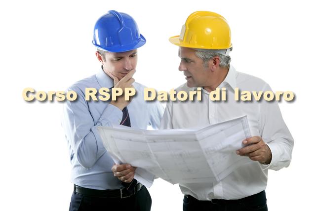 Corso RSPP datori di lavoro
